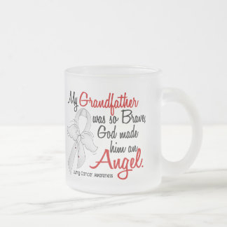 Angel 2 Grandfather Lung Cancer Coffee Mugs