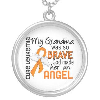 Angel 2 Grandma Leukemia Personalized Necklace