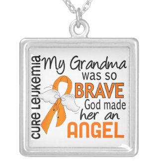 Angel 2 Grandma Leukemia Necklaces
