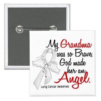 Angel 2 Grandma Lung Cancer Pinback Button