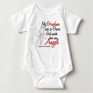 Angel 2 Grandma Lung Cancer Tee Shirt