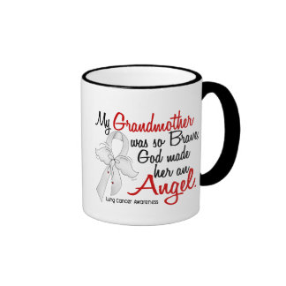 Angel 2 Grandmother Lung Cancer Coffee Mugs
