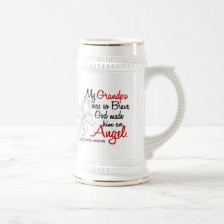 Angel 2 Grandpa Lung Cancer Coffee Mug