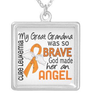 Angel 2 Great Grandma Leukemia Personalized Necklace