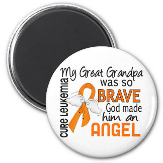 Angel 2 Great Grandpa Leukemia 6 Cm Round Magnet