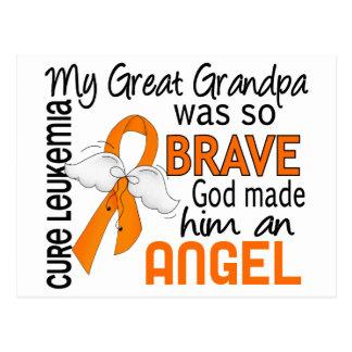 Angel 2 Great Grandpa Leukemia Postcard