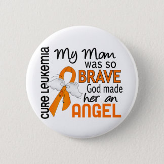 Angel 2 Mom Leukemia 6 Cm Round Badge