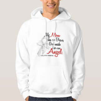 Angel 2 Mom Lung Cancer Hoodie