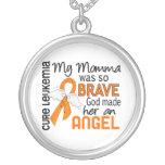 Angel 2 Momma Leukaemia Custom Jewelry