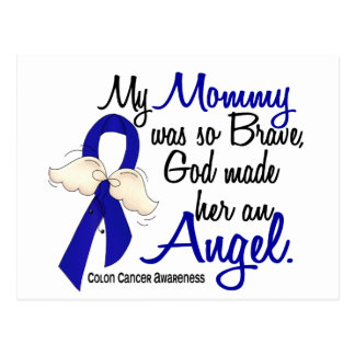 Angel 2 Mommy Colon Cancer Postcard