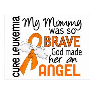 Angel 2 Mommy Leukemia Postcard