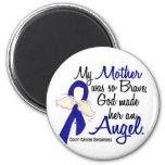 Angel 2 Mother Colon Cancer 6 Cm Round Magnet