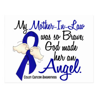 Angel 2 Mother-In-Law Colon Cancer Postcard
