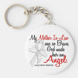 Angel 2 Mother-In-Law Lung Cancer Key Chains
