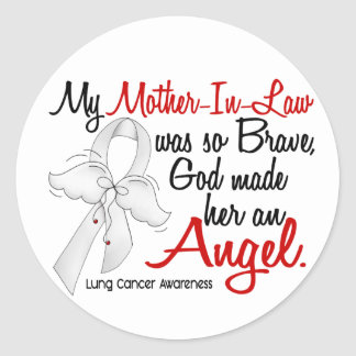 Angel 2 Mother-In-Law Lung Cancer Sticker