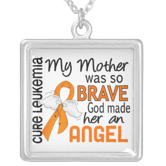 Angel 2 Mother Leukemia Silver Plated Necklace