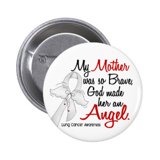 Angel 2 Mother Lung Cancer 6 Cm Round Badge