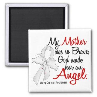 Angel 2 Mother Lung Cancer Refrigerator Magnet