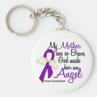 Angel 2 Mother Pancreatic Cancer Key Ring