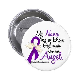 Angel 2 Nana Pancreatic Cancer 6 Cm Round Badge