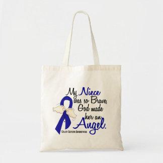 Angel 2 Niece Colon Cancer Budget Tote Bag