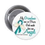 Angel 2 Ovarian Cancer Grandma Badge