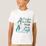 Angel 2 Ovarian Cancer Grandma Tee Shirt