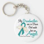 Angel 2 Ovarian Cancer Grandmother Key Chains