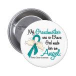 Angel 2 Ovarian Cancer Grandmother Pinback Button