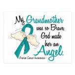 Angel 2 Ovarian Cancer Grandmother Post Card