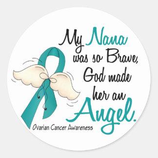 Angel 2 Ovarian Cancer Nana Classic Round Sticker