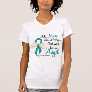 Angel 2 Ovarian Cancer Niece T Shirt