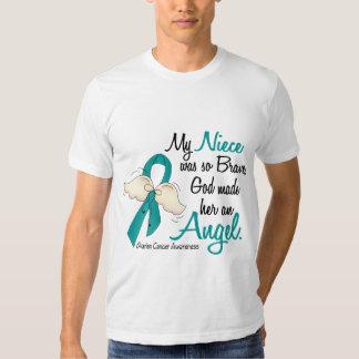 Angel 2 Ovarian Cancer Niece Tee Shirt