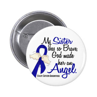 Angel 2 Sister Colon Cancer 6 Cm Round Badge