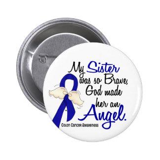 Angel 2 Sister Colon Cancer 6 Cm Round Badge