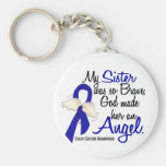 Angel 2 Sister Colon Cancer Basic Round Button Key Ring