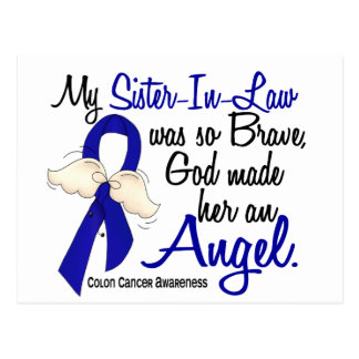 Angel 2 Sister-In-Law Colon Cancer Postcard