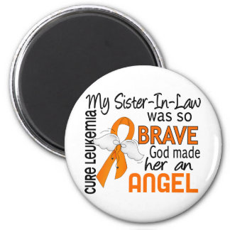 Angel 2 Sister-In-Law Leukemia 6 Cm Round Magnet