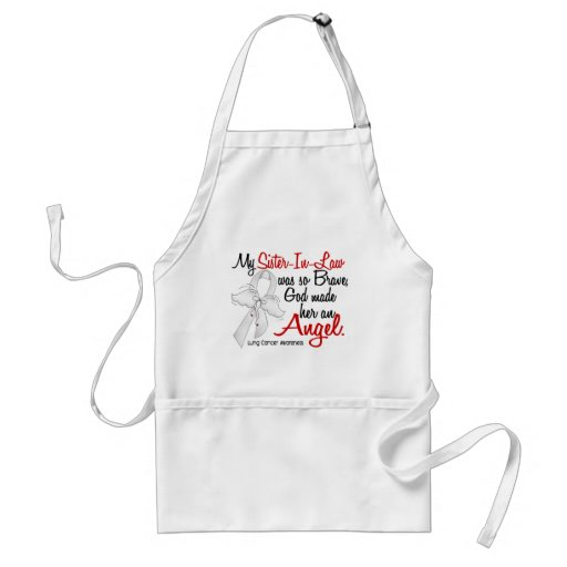 Angel 2 Sister-In-Law Lung Cancer Aprons