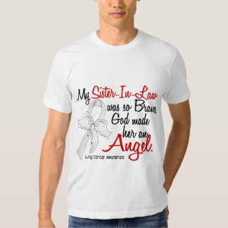 Angel 2 Sister-In-Law Lung Cancer T-shirt