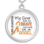 Angel 2 Sister Leukaemia Personalised Necklace