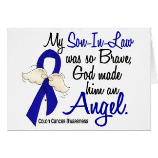 Angel 2 Son-In-Law Colon Cancer Greeting Card