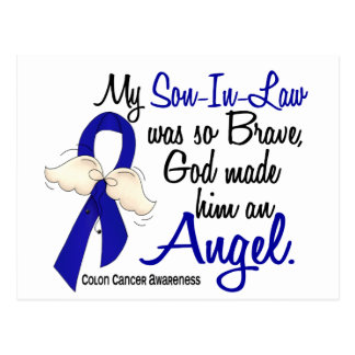 Angel 2 Son-In-Law Colon Cancer Postcard