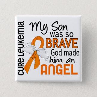 Angel 2 Son Leukemia 15 Cm Square Badge
