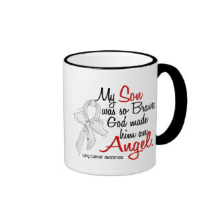 Angel 2 Son Lung Cancer Mugs