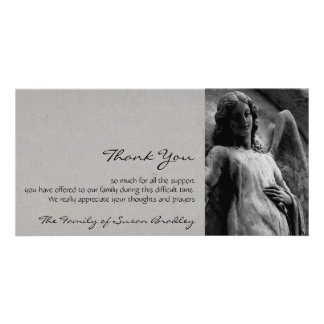 Angel 2 Sympathy Thank You Photo Card