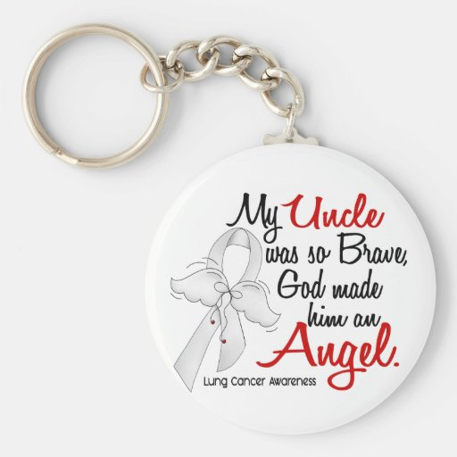 Angel 2 Uncle Lung Cancer Keychain