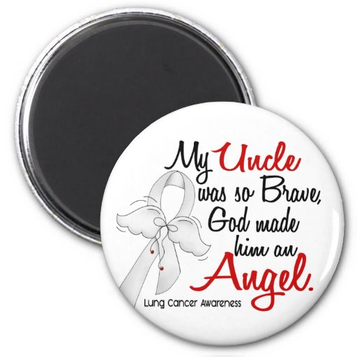 Angel 2 Uncle Lung Cancer Magnets
