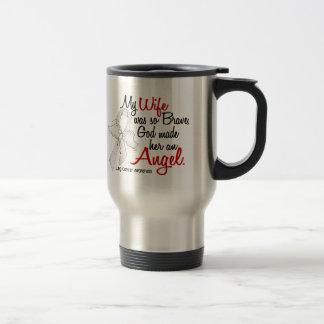 Angel 2 Wife Lung Cancer Mugs