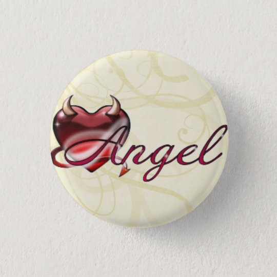 Angel 3 Cm Round Badge